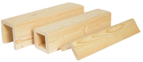 Конструкции декоративных балок (фальшбалок) из сосны