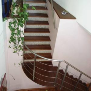 Лестница под ключ из ясеня - Аносино