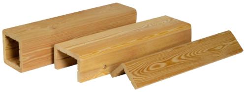 Конструкции декоративных балок (фальшбалок) из лиственницы